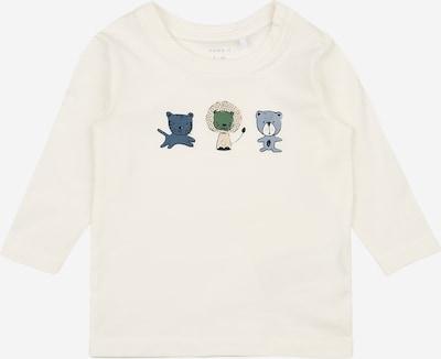 NAME IT Shirt 'TEMEN' in rauchblau / pastellgelb / grün / weiß, Produktansicht