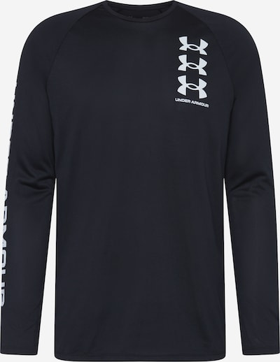 UNDER ARMOUR Functioneel shirt in de kleur Zwart / Wit, Productweergave