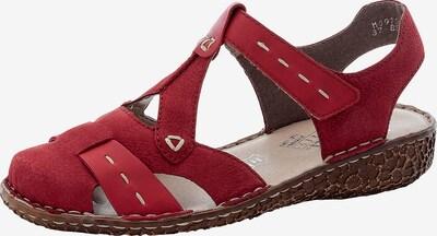 RIEKER Sandales à lanières en rouge rubis, Vue avec produit