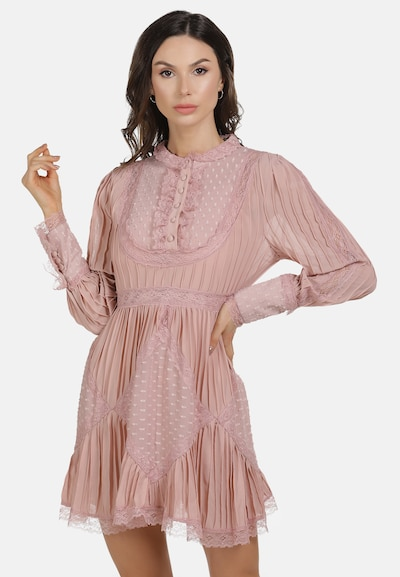 faina Zomerjurk in de kleur Pink, Modelweergave