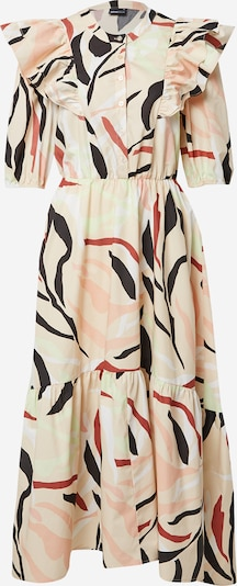 Rochie tip bluză 'Katja' Gina Tricot pe verde pastel / portocaliu caisă / roșu pastel / negru / alb, Vizualizare produs