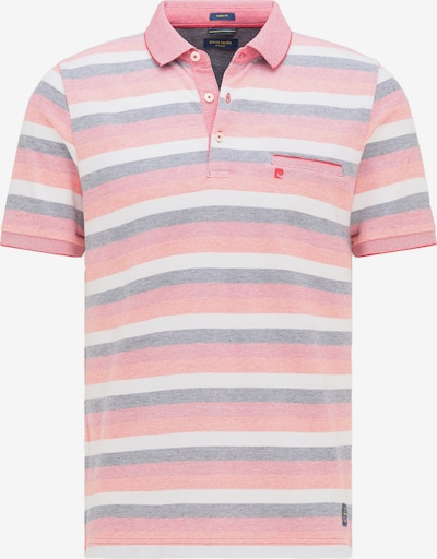 PIERRE CARDIN Poloshirt in dunkelgrau / orange / rot / weiß, Produktansicht