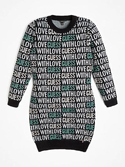 GUESS KIDS Kleid in nachtblau / grün / weiß, Produktansicht