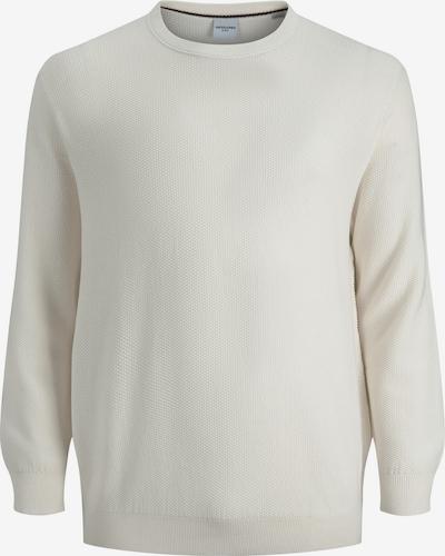 Jack & Jones Plus Pullover 'AARON' in weiß, Produktansicht