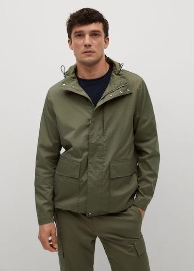 MANGO MAN Zimní kabát 'Jacob' - khaki, Model/ka