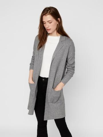 VERO MODA Knit Cardigan 'Tasty' in Grey