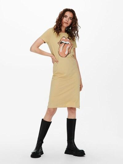 ONLY Kleid in beige / rot, Modelansicht
