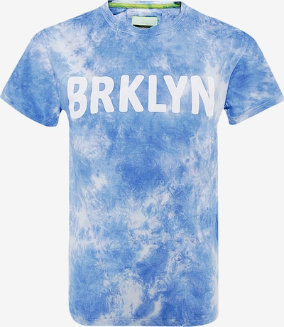 BLUE EFFECT Shirt 'BRKLYN' in Blue / Light blue / White, Item view