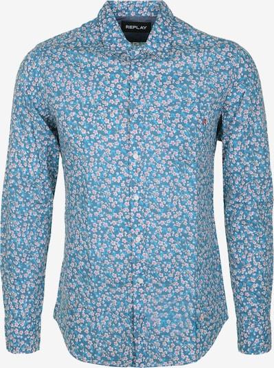 REPLAY Hemd Blumen Print in blau, Produktansicht