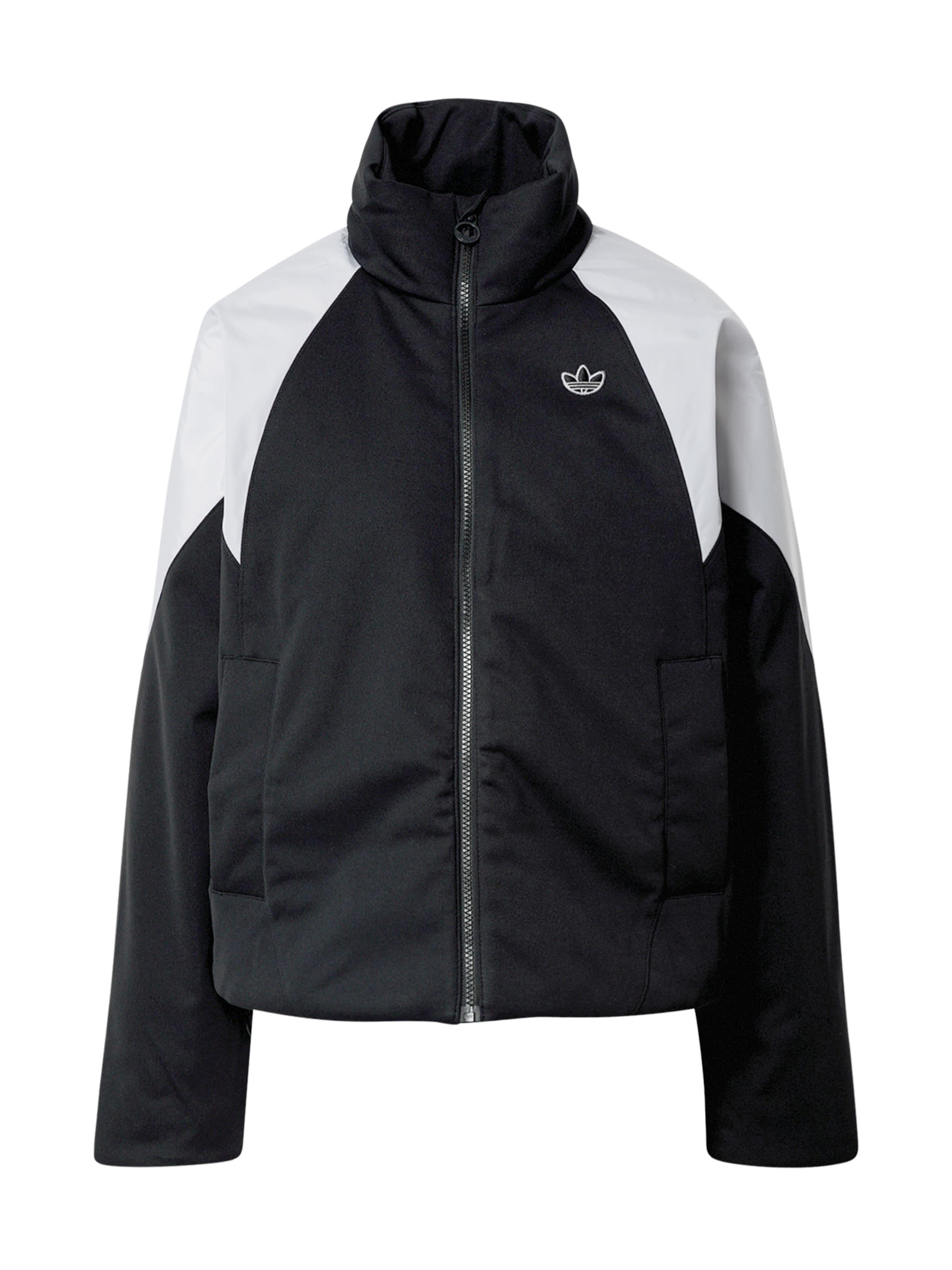 ADIDAS ORIGINALS Jacke in schwarz / weiß