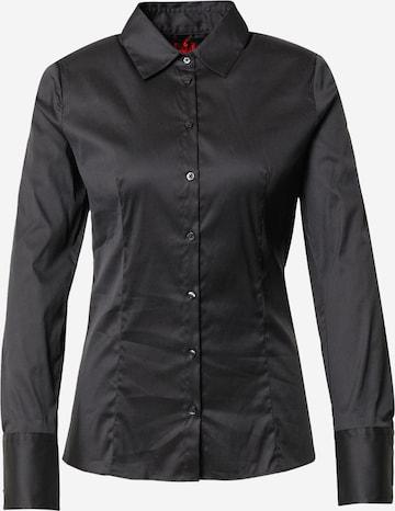 Camicia da donna 'The Fitted Shirt' di HUGO in nero