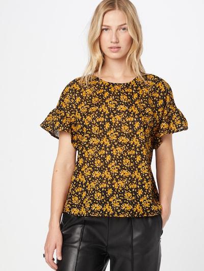 UNITED COLORS OF BENETTON Bluse in gelb / schwarz, Modelansicht