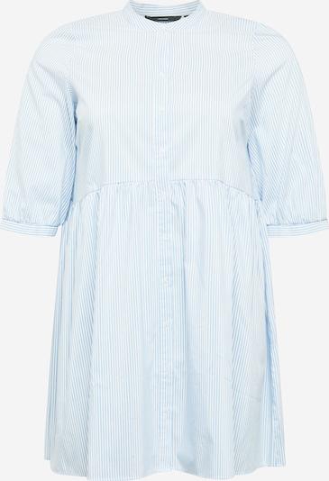 Vero Moda Curve Robe-chemise en bleu clair / blanc, Vue avec produit