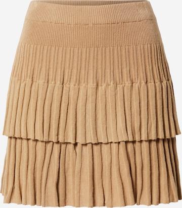 Parallel Lines Spódnica w kolorze beżowy