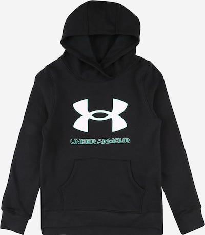 UNDER ARMOUR Sports sweatshirt in cyan blue / black / white, Item view