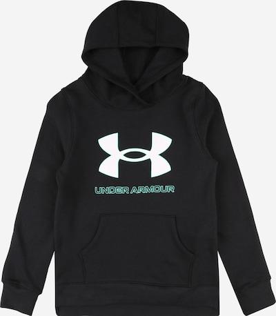 UNDER ARMOUR Športna majica | cijansko modra / črna / bela barva, Prikaz izdelka