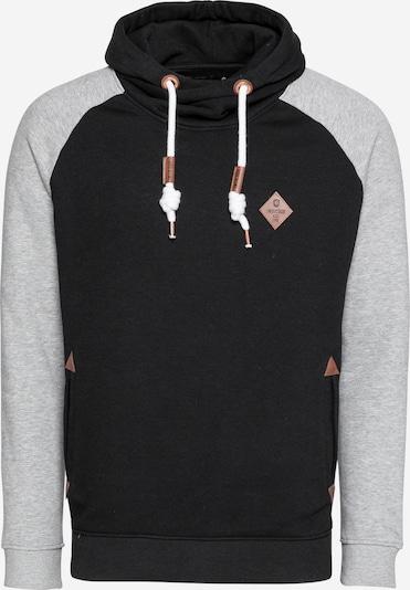 INDICODE JEANS Bluzka sportowa 'Marybank' w kolorze brązowy / nakrapiany szary / czarnym, Podgląd produktu