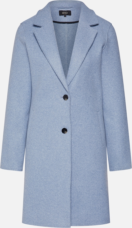 ONLY Mantel 'CARRIE BONDED COAT' in hellblau: Frontalansicht