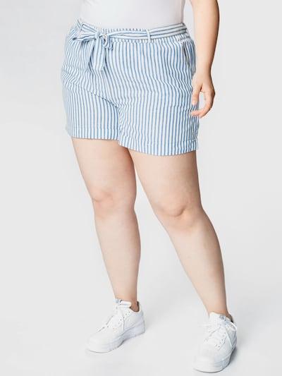 Pantaloni 'Noelia' ABOUT YOU Curvy pe albastru / alb, Vizualizare model