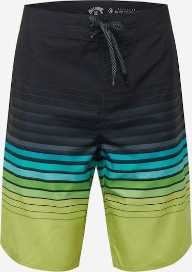 BILLABONG Boardshorts 'ALL DAY' en bleu / bleu marine / citron vert, Vue avec produit