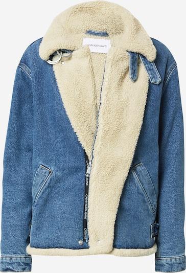 Calvin Klein Jeans Jacke 'Sherpa' in blue denim, Produktansicht
