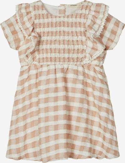 Lil ' Atelier Kids Robe en marron / blanc, Vue avec produit