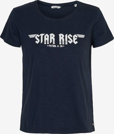 Petrol Industries T-Shirt in nachtblau / weiß, Produktansicht