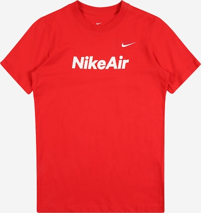 Nike Sportswear T-Shirt 'Air' in rot / weiß, Produktansicht