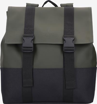 RAINS Rucksack 'Buckle' in dunkelgrau / dunkelgrün, Produktansicht