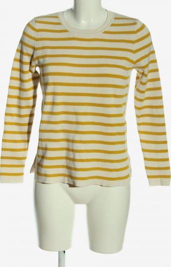 Part Two Rundhalspullover in M in pastellgelb / weiß, Produktansicht