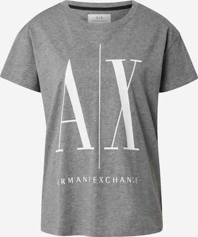 ARMANI EXCHANGE Shirt in de kleur Grijs gemêleerd / Wit, Productweergave