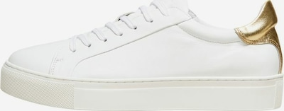SELECTED FEMME Sneakers in gold / weiß, Produktansicht