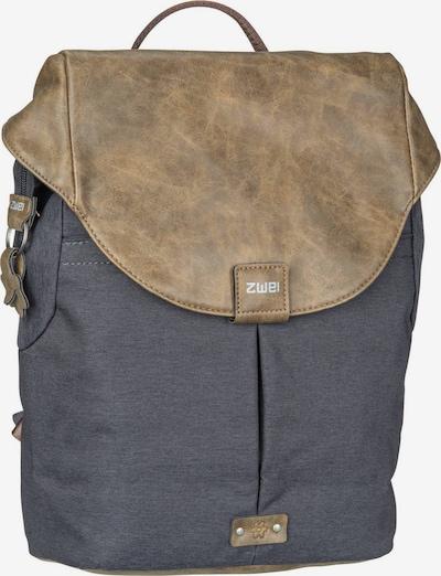 ZWEI Sac à dos ' Olli O12 ' en gris foncé, Vue avec produit