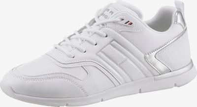 ezüst / fehér TOMMY HILFIGER Rövid szárú edzőcipők, Termék nézet