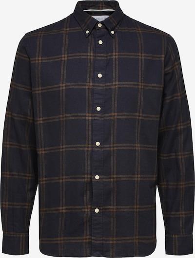 SELECTED HOMME Hemd in nachtblau / braun, Produktansicht