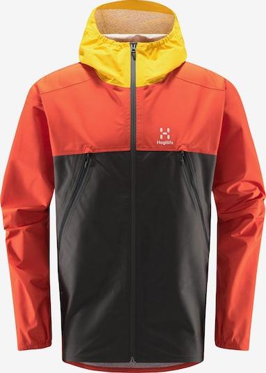 Haglöfs Sportjacke 'Spira' in gelb / orangerot / schwarz, Produktansicht