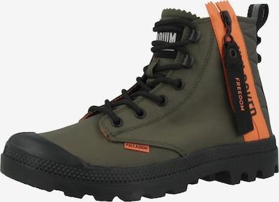 Palladium Boots 'Pampa' in grün / orange, Produktansicht