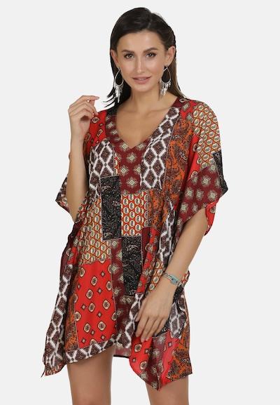 usha FESTIVAL Tunika in braun / mischfarben / rot, Modelansicht