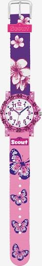 SCOUT Uhr in lila / pink / weiß, Produktansicht