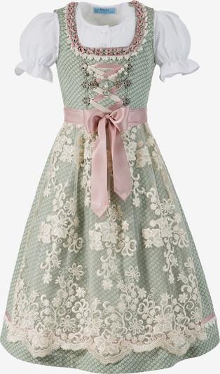 MARJO Dirndl in mint / rosa / weiß, Produktansicht