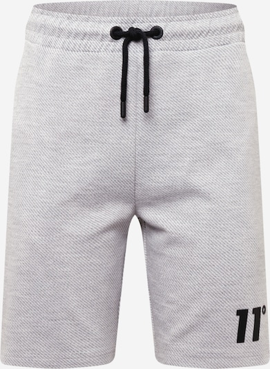 11 Degrees Shorts in hellgrau / graumeliert / schwarz, Produktansicht