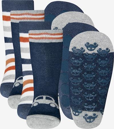 EWERS Chaussettes en bleu foncé / marron / blanc, Vue avec produit