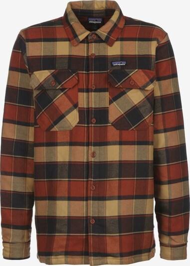 PATAGONIA Functioneel overhemd in de kleur Bruin / Sinaasappel / Rood / Zwart, Productweergave