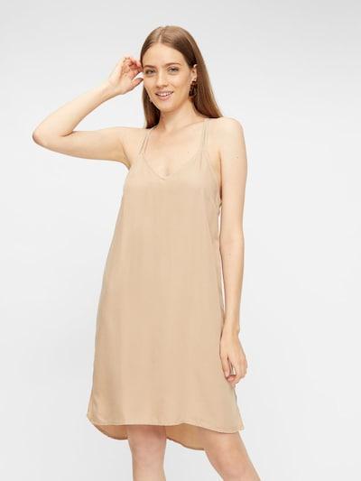 PIECES Kleid in nude, Modelansicht
