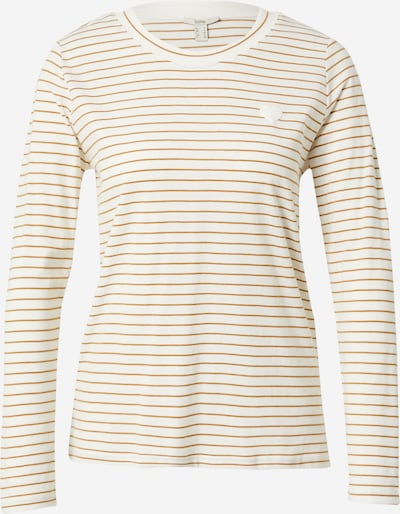 ESPRIT Shirt in karamell / offwhite, Produktansicht