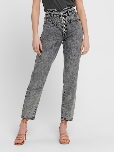 ONLY Jeans 'TURNER HW 80TIES' in grau, Modelansicht