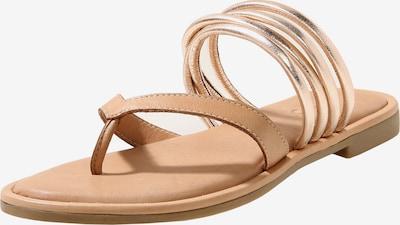 INUOVO Sandale in hellbraun / gold, Produktansicht
