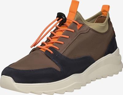 N91 Sneaker 'Style Choice AB' in braun / orange / schwarz / weiß, Produktansicht