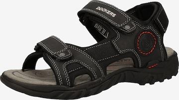 Sandales de randonnée Dockers by Gerli en noir