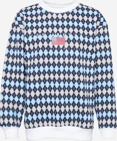 Daisy Street Sweatshirt in beige / blau / dunkelblau / weiß, Produktansicht